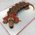 Dachsund cupcake