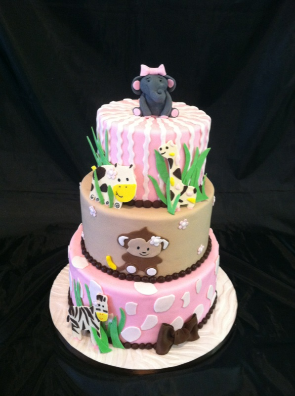 Safari Baby Shower Cake Fanny Cakes