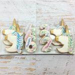 Unicorn Number Cookies