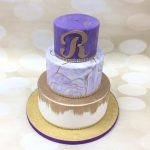 purple marble & gold