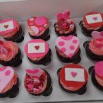 Valentine's Fondant Cupcakes
